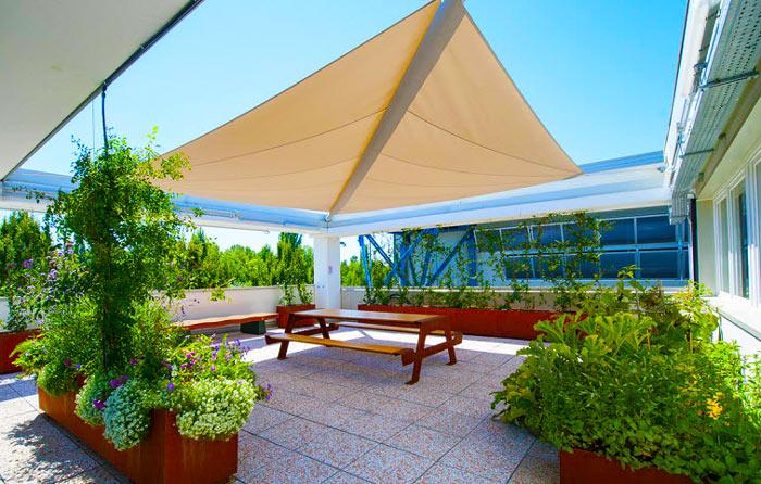 Giardino Terrazza Crema Patio Shack Tenda a Vela Quadrata 2,5x2,5m Protezione Raggi UV HDPE Traspirante per Esterno