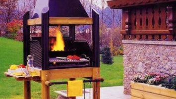 Barbecue a legna professionale