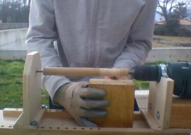 Realizzazione di un tornio per il legno