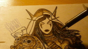 Disegnare con la pirografia