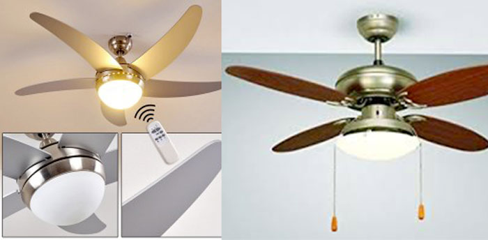 Lampadario con ventilatore