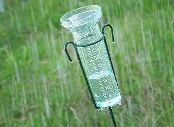 come usare il pluviometro
